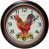 12in Rooster Wall Clock - TFT6064