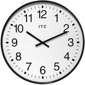 19in Auto Daylight Savings Wall Clock - TFT6084