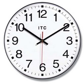 12in Black Office Style Wall Clock - TFT6108