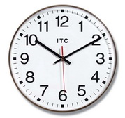 12in Brown Office Style Wall Clock - TFT6112