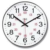 12in 24 Wall Clock with 24hr Format - TFT6114