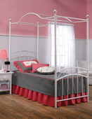 Emily Bed Set - Twin - w/Rails & Canopy - THD5796
