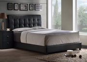 Lusso Queen Bed Set w/ Rails - THD6510
