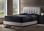 Lusso Queen Bed Set w/ Rails - THD6534