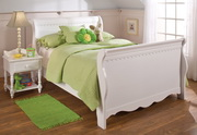 Lauren Sleigh Bed Set - Full - w/Rails - THD6378