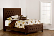 Kaylie Bed Set - Cal King - Rails Included - Chocolate Finish - THD6120