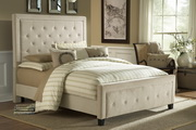 Kaylie Bed Set - Cal King - Rails Included - Buckwheat Finish - THD6134