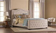 Trieste Bed Set with Storage Footboard - Cal King - Rails Included - Buckwheat - THD7546
