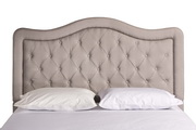 Trieste Fabric Headboard - Queen - Rails Not Included - Dove Gray Linen - THD7572