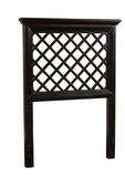 Kuri Headboard - Twin - Rails Not  Included Rubbed Black Finish - THD6308
