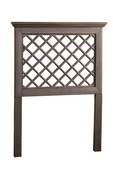 Kuri Headboard - Twin - Rails Not  Included - Distressed Gray Finish - THD6312