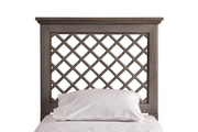 Kuri Headboard - King - Rails Included - Distressed Gray Finish - THD6336