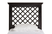 Kuri Headboard - Twin - Rails Included - Rubbed Black Finish  - THD6348