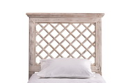 Kuri Headboard - King - Rails Included - Distressed White Finish - THD6352