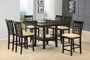 Tabacon 7-Piece Dining Set - Gathering Table & 6 Counter Stools - THD4582