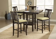 Arcadia 5-Piece Counter Height Dining Set w/Slat Back Stools - THD3772