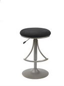 Venus Backless Swivel Bar Stool With Black Suede - THD2167