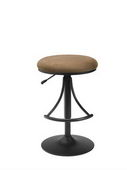 30in Venus Backless Swivel Bar Stool With Bear Suede - THD2173