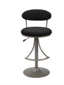 24-30in Venus Swivel Bar Stool With Black Suede - THD2176
