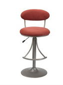 24-30in Venus Swivel Bar Stool With Flame Suede - THD2179