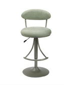 24-30in Venus Swivel Bar Stool With Atmosphere Suede - THD2182