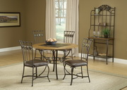 Lakeview 5-Piece Round Dining Set w/Slate Chairs - THD4190