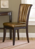 Grand Bay Chair Upholstered Back Stationary Dark Finish - THD4448