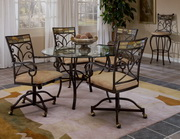 Pompeii 5-Piece Dining Set w/Caster Chairs - THD4554