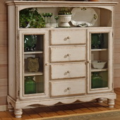 Hillsdale Wilshire Baker's Cabinet Antique White - THD3340