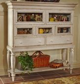 Hillsdale Wilshire Antique White Sideboard Cabinet - THD3342