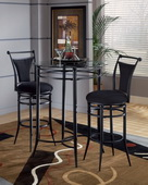 Cierra 3-Piece Bistro Set - Black - THD4280