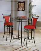Cierra 3-Piece Bistro Set- Flame - THD4284