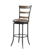 26in Hillsdale Swivel Ladder Back Counter Stool - THD3001