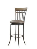 30in Hillsdale Swivel Vertical Spindle Bar Stool - THD3007