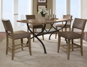 Charleston 5-Piece Counter Height Rectangle Wood Dining Set w/Parson Stool - THD3982