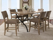 Charleston 7-Piece Counter Height Rectangle Wood Dining Set w/Parson Stool - THD3984