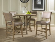 Charleston 5-Piece Counter Height Round Wood Dining Set w/Parson Stool - THD3990