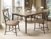 Charleston 5-Piece Rectangle Dining Set w/X-Back Chair - THD4004