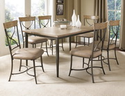 Charleston 7-Piece Rectangle Dining Set w/X-Back Chairs - THD4006