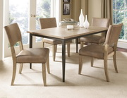 Charleston 5-Piece Rectangle Dining Set w/Parson Chair - THD4008