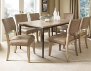 Charleston 7-Piece Rectangle Dining Set w/Parson Chair - THD4010