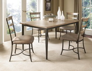Charleston 5-Piece Rectangle Dining Set w/Ladder Back Chair - THD4012