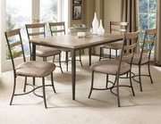 Charleston 7-Piece Rectangle Dining Set w/Ladder Back Chair - THD4014