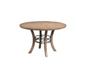 Charleston Round Wood Table w/Metal Ring - THD4016