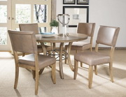 Charleston 5-Piece Round Wood Base Dining Set w/Parson Chair - THD4020