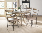 Charleston 5-Piece Round Wood Base Dining Set w/Ladder Back Chair - THD4022