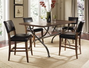 Cameron 5-Piece Counter Height Rectangle Wood Dining Set w/Parson Stool - THD3918