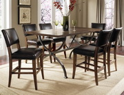 Cameron 7-Piece Counter Height Rectangle Wood Dining Set w/Parson Stool - THD3920