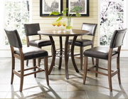 Cameron 5-Piece Counter Height Round Wood Dining Set w/Parson Stool - THD3926
