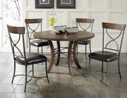 Cameron 5-Piece Round Wood Base Dining Set w/X-Back Chairs - THD3954